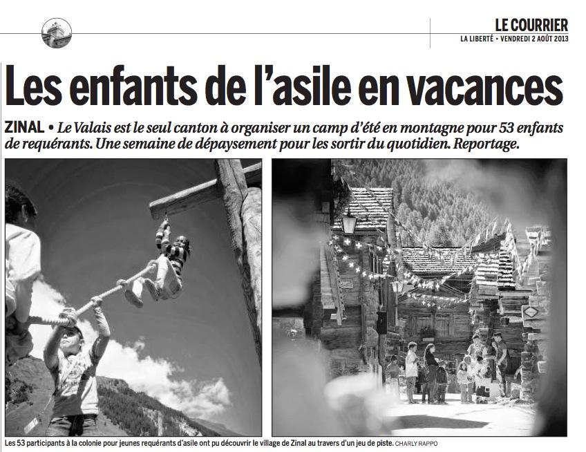 Article dans Le Courrier du 2 août 2013.