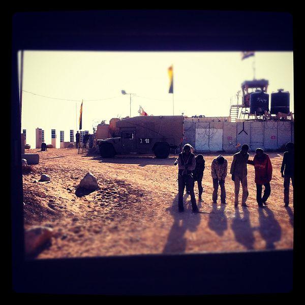 African refugees next to the Egyptian-Israeli border Photo: Hillel Assaf