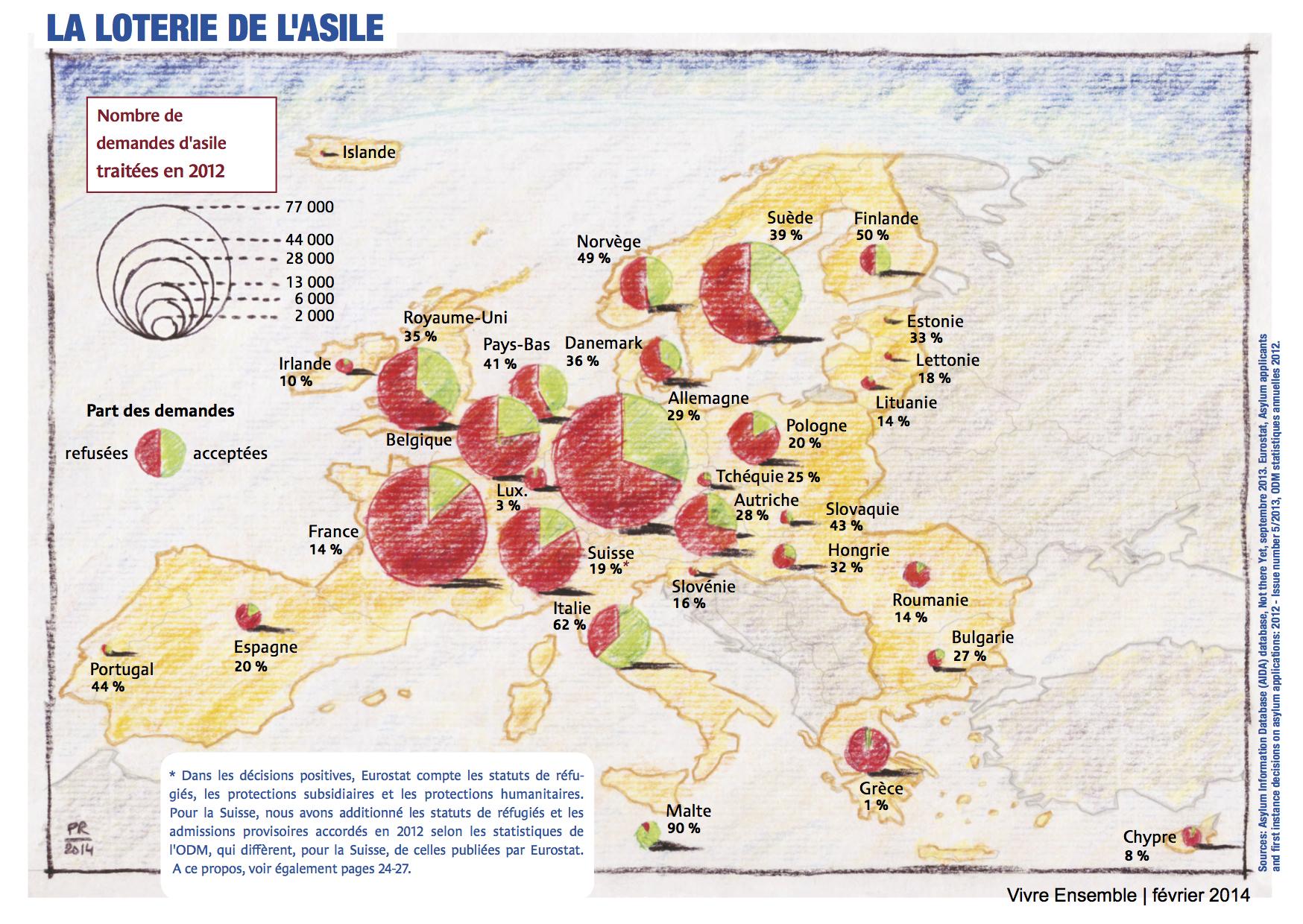 Carte réalisée par Philippe Rekacewicz pour Vivre Ensemble (VE 146 février 2014)