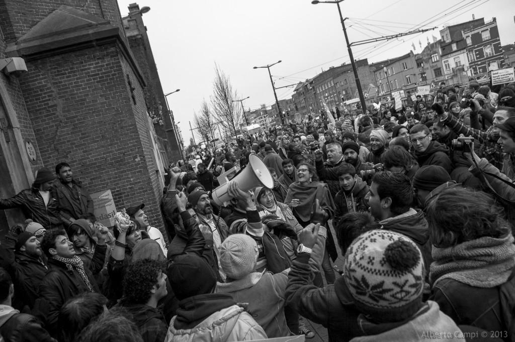 Manifestation en soutien aux Afghans à Bruxelles, 20.11.2013 Photo: Alberto Campi