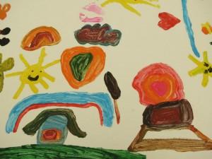 Dessin réalisé par un enfant participant aux ateliers