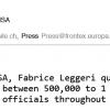 Email reçu du bureau de presse de Frontex le 22 mai 2015.