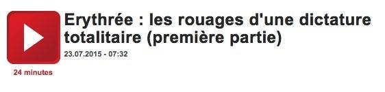 France culture erythree premiere partie