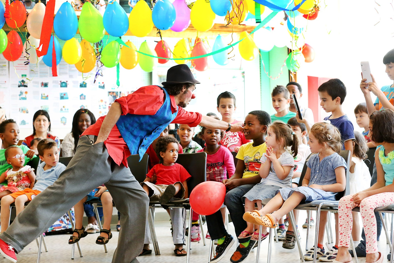 Boom pour les enfants au foyer d'Anières. Hospice Général. Photo: Magali Girardin