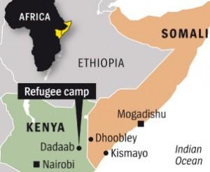 Map refugee camp