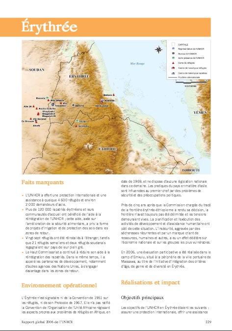 Rapport Erythree HCR