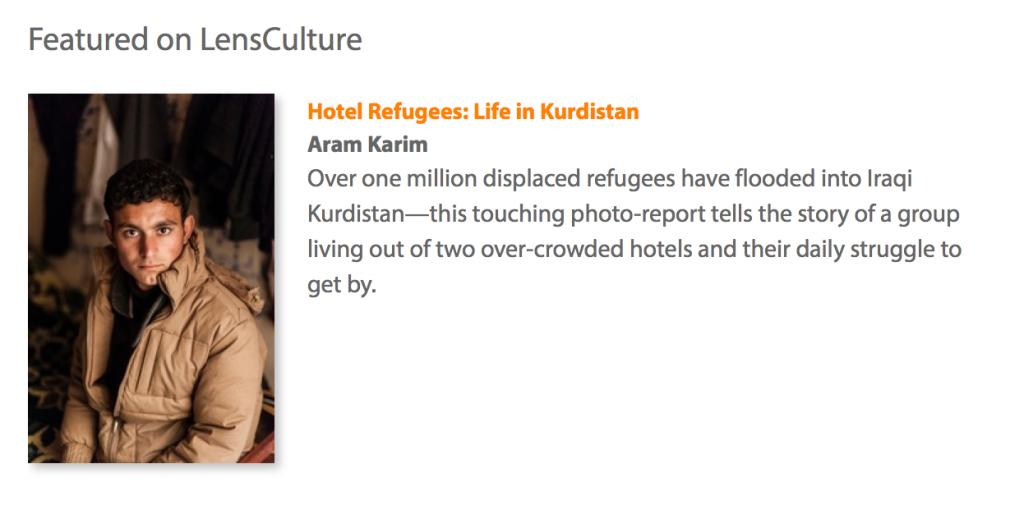 """Pour voir le reportage photographique """"Hotel Refugees: Life in Kurdistan"""", cliquez ici."""