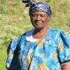 Mama Africa dans son jardin. Photo: Voix d'Exils