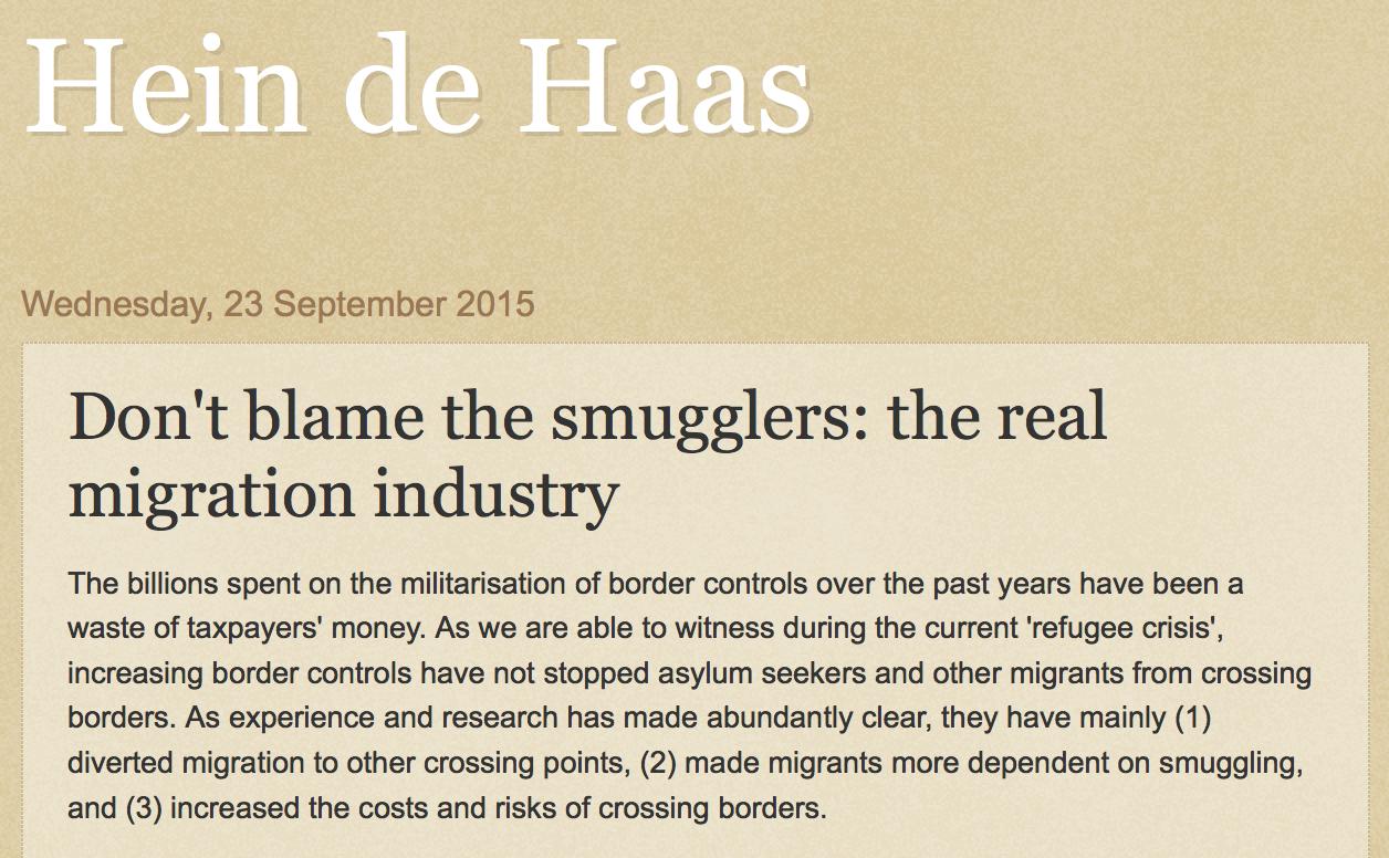 HeinDeHaas_do not blame smugglers