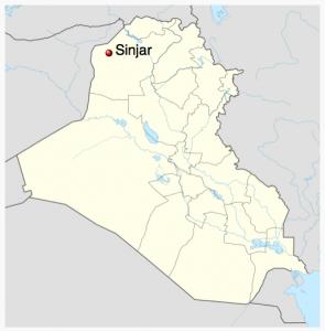 Sinjar, Irak. Carte: Wikipedia