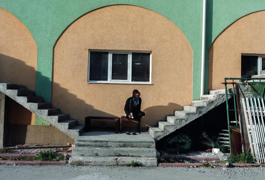 Réfugié nigérian à Sjenica, Serbie, 2014. Photo: Alberto Campi