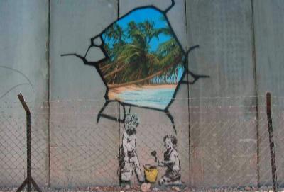 Banksy – Mur à Bethlehem. Photo : Markus Orner