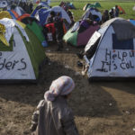 View of a makeshift camp near the village of Idomeni on the Greek - FYR of Macedonia border where thousands of refugees, mainly from Iraq and Syria, are stranded after a decision by states along the Western Balkan route to Northern Europe to introduce quotas on the number of people they allow entry through their borders on a daily basis. ; More than 24,000 refugees are trapped in Greece as the Western Balkan route to Northern Europe mostly shuts down. The FYR of Macedonia border crossing is now only open to a few hundred Syrians and Iraqis per day, creating a backlog at the unofficial border crossing of Idomeni as well as the port of Piraeus in Athens. Only those with passports or official ID cards may cross. Afghans are barred completely.It's the latest in a series of restrictions imposed by Austria and a group of Western Balkan countries over the past few months aimed at stemming the migrant flows toward Germany, the destination of choice for most people. Text: Tania Karas/UNHCR