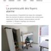 La promiscuité des foyers alarme - Le Courrier